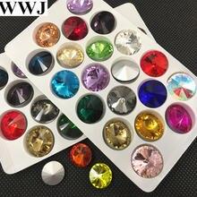 Стеклянные бусины rivoli разных цветов 6 мм 8 10 12 14 16 18