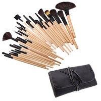 Hot Sale 32pcs Set Black Makeup Brushes 5 Set Pro Cosmetic Eyebrow Foundation Shadows Eyeliner Lip