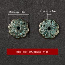 50 шт/лот новый стиль винтажные подвески в виде цветка вердихи