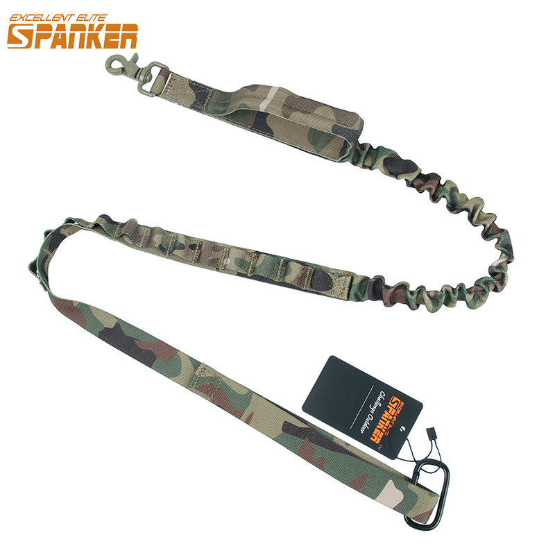 ECCELLENTE ELITE SPANKER Tactical Multi-Function Versatile Longer Training Dog Bungee Leash Caccia all'aperto Nylon militare Corda