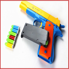 1pcs Classic  Toys  pistol Children's toy guns Soft Bullet Gun plastic Revolver Kids Fun Outdoor game shooter safety