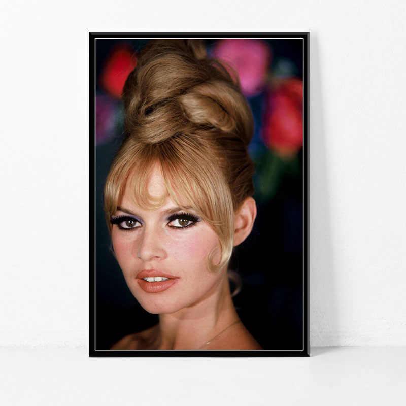 P521 الساخن مثير بريجيت باردو الفيلم ستار الممثلة نموذج الفن اللوحة الحرير قماش المشارك ديكور حوائط المنزل
