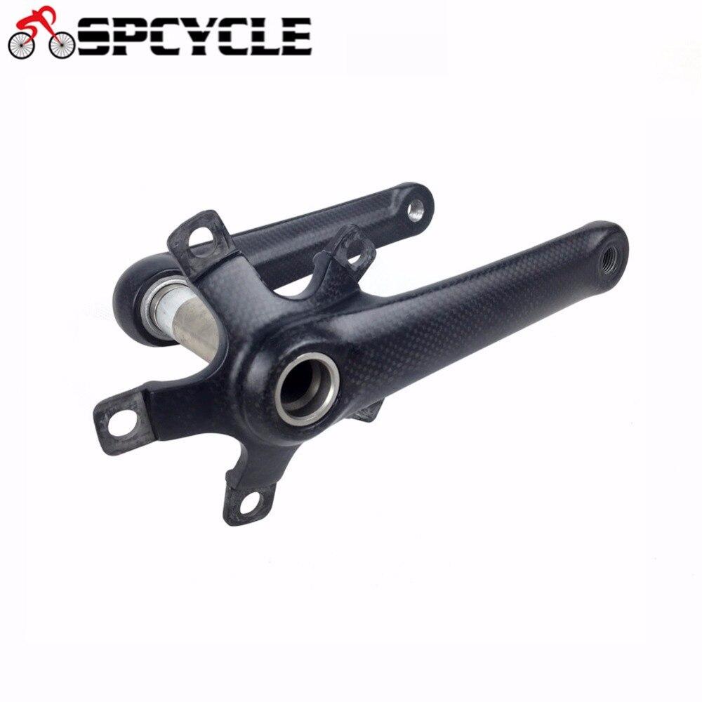 Smileteam carbone vélo route manivelles vtt vélo de route carbone pédaliers vélo de route longueur de la manivelle 170mm/175mm BCD 110/130mm