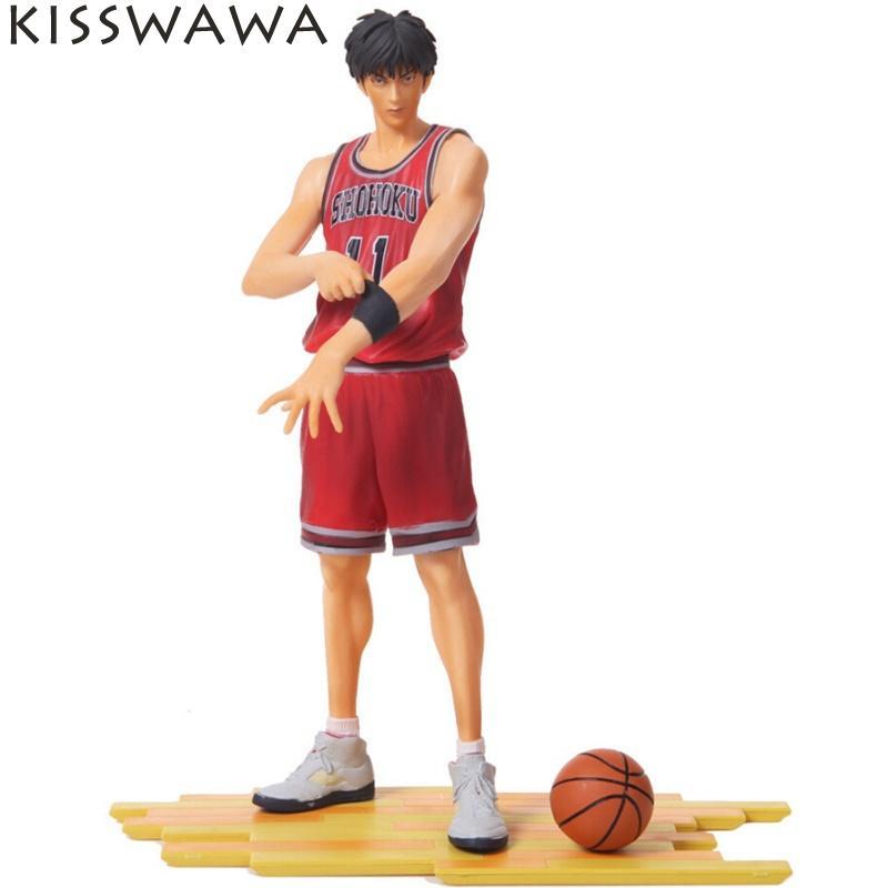 ФОТО KISSWAWA Free Shipping Japanese Anime Slam Dunk Rukawa Kaede 25cm PVC Action Figures Dolls Model Boys Toys Doll Kids gift