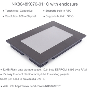 """Image 2 - 7,0 """"7 дюймов Nextion Enhanced HMI емкостный сенсорный экран Дисплей ЖК дисплей Экран на тонкопленочных транзисторах на тонкоплёночных транзисторах модуль солнечной панелью с Корпус чехол NX8048K070 011C"""