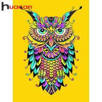 Huacan Stickerei Verkauf Tier Eule 5D Diamant Mosaik Volle Platz Diamant Malerei Sunset Bild Strass Wohnkultur Drop Schiff