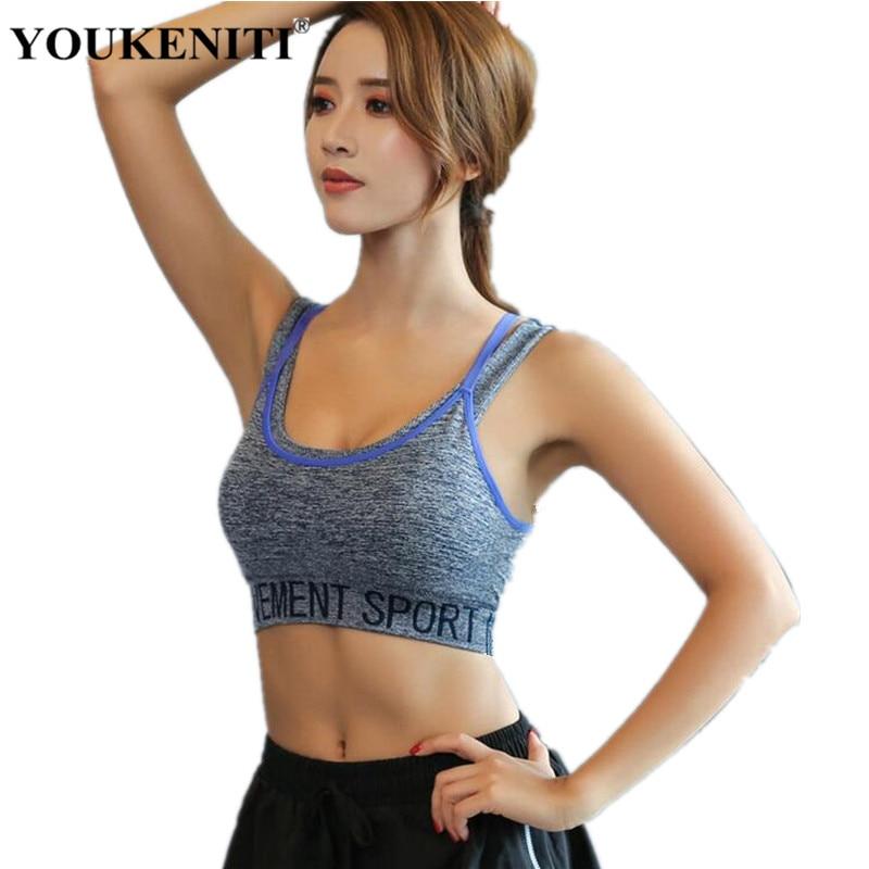 YOUKENITI 2018 New Brand Shockproof Sports Bras Women Sexy