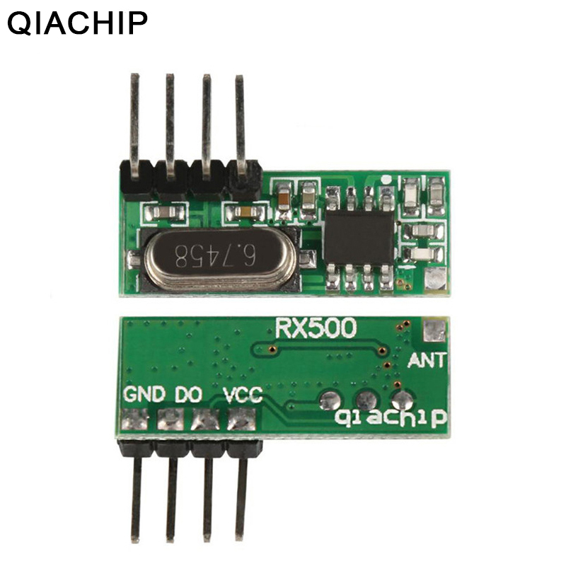 US $1 19 40% OFF|QIACHIP 433Mhz Universal Wireless RF Relay Receiver Module  Remote Control Switch For Smart Home Arduino Uno Garage Door Opener-in