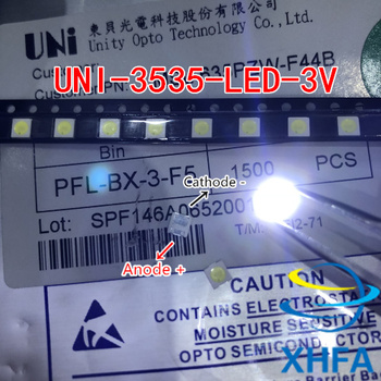 50PCS 100PCS FOR LCD TV repair UNI Replace LG SEOUL led TV backlight with light-emitting diode 3535 SMD LED beads 6V-6.8V image