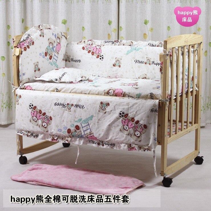 ツ)_/¯¡ Promoción! 7 unids cuna nueva llegada Ropa de cama del bebé ...
