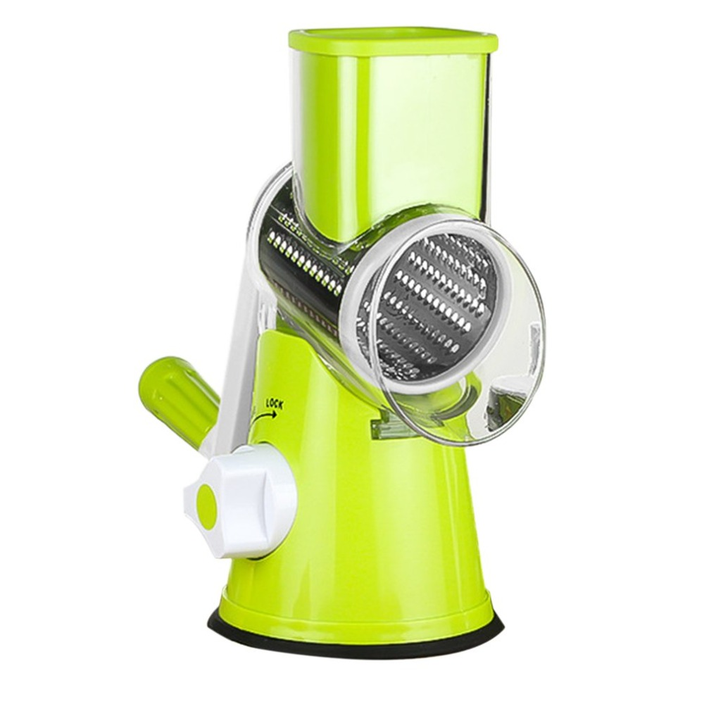 Multifunctional Vegetable Shredder Hand Drum Rotary Grater Shred Potato Slicer Roller Shape Stainless Steel Crank Handle high quality multifunctional kitchen tool vertical type stainless steel vegetable fruit shredder