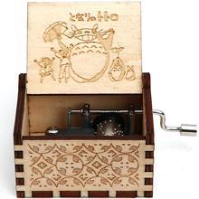Деревянная резная музыкальная шкатулка мультфильм Тоторо тема ручной коленчатый Музыкальная Коробка детский подарок девушке подарок на день рождения