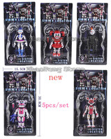 5 Pcs/Lot Five Nights At Freddy's Figure Funtime Freddy Foxy Sister Location Horror Game Lightening Movable Joint Toys B98