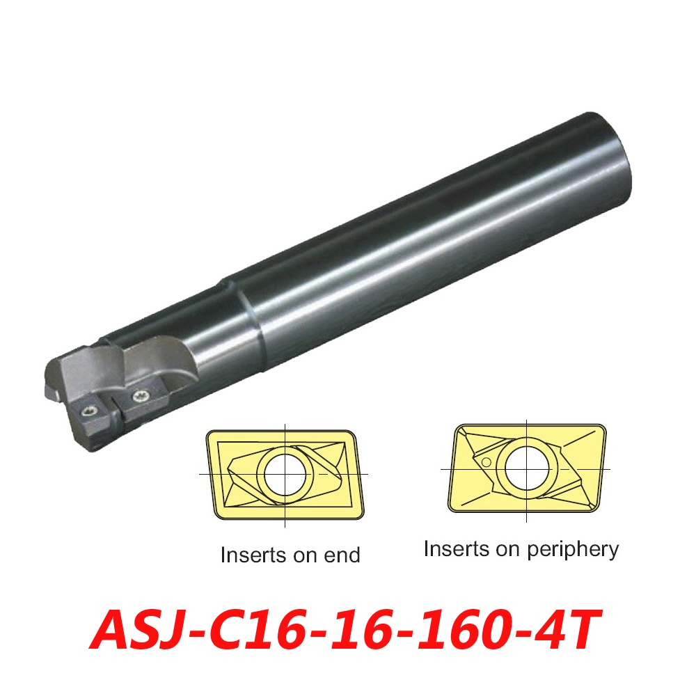 ASJ-C16-16-160 Indexable Drilling And Milling Cutter Arbor For ADMT080308L+APMT090208R Carbide Insert hot selling indexable profile milling cutter bmr01 020 xp20 s tool holder matched for carbide insert spmt060304 zdet08t2cyr10