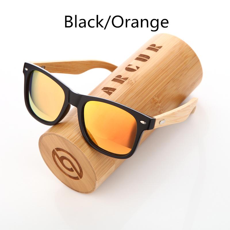 نظارة شمسية للرجال وللسيدات بعدسات بلورايزد واطار خشبي 9