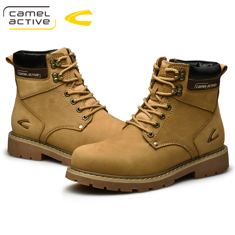 Camel Active Nieuwe Hoge Kwaliteit Enkellaarsjes Voor Mannen Schoenen Outdoor Casual Rijden Paardensport Laarzen Zapatos de Hombre Mannen Laarzen - 2