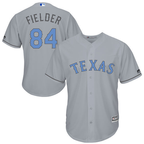 5d45649b4 ... canada mlb mens texas rangers prince fielder baseball gray fathers day cool  base replica jersey da3bb