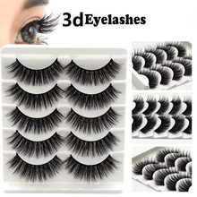 100% 5Pair Mink Eyelashes False Eyelashes Crisscross Natural Fake lashes Makeup 3D Mink Lashes Extension Eyelash Beauty(China)