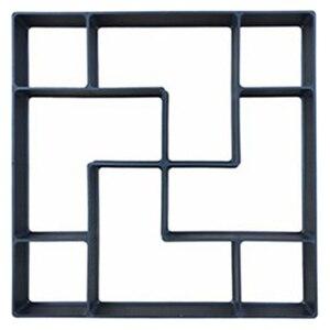Image 2 - 40*40*4 センチメートルdiy舗装モールドステッピング石畳私道パティオ舗装パスメーカー床デザイン