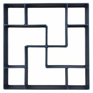 Image 2 - 40*40*4cm pavimento DIY molde paso a paso Pavimento de Piedra pavimento camino de entrada Patio sendero fabricante de suelo jardín diseño