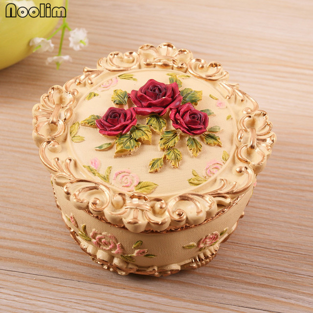 Noolim 1 pc european retro carved flowers resin jewelry box home noolim 1 pc european retro carved flowers resin jewelry box home wedding decoration ornaments craft gifts junglespirit Images