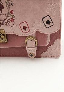 Image 5 - Japan Bag Lolita Style Women Lady Alice Designer Embroidery Handbag Messenger Bag School Bag