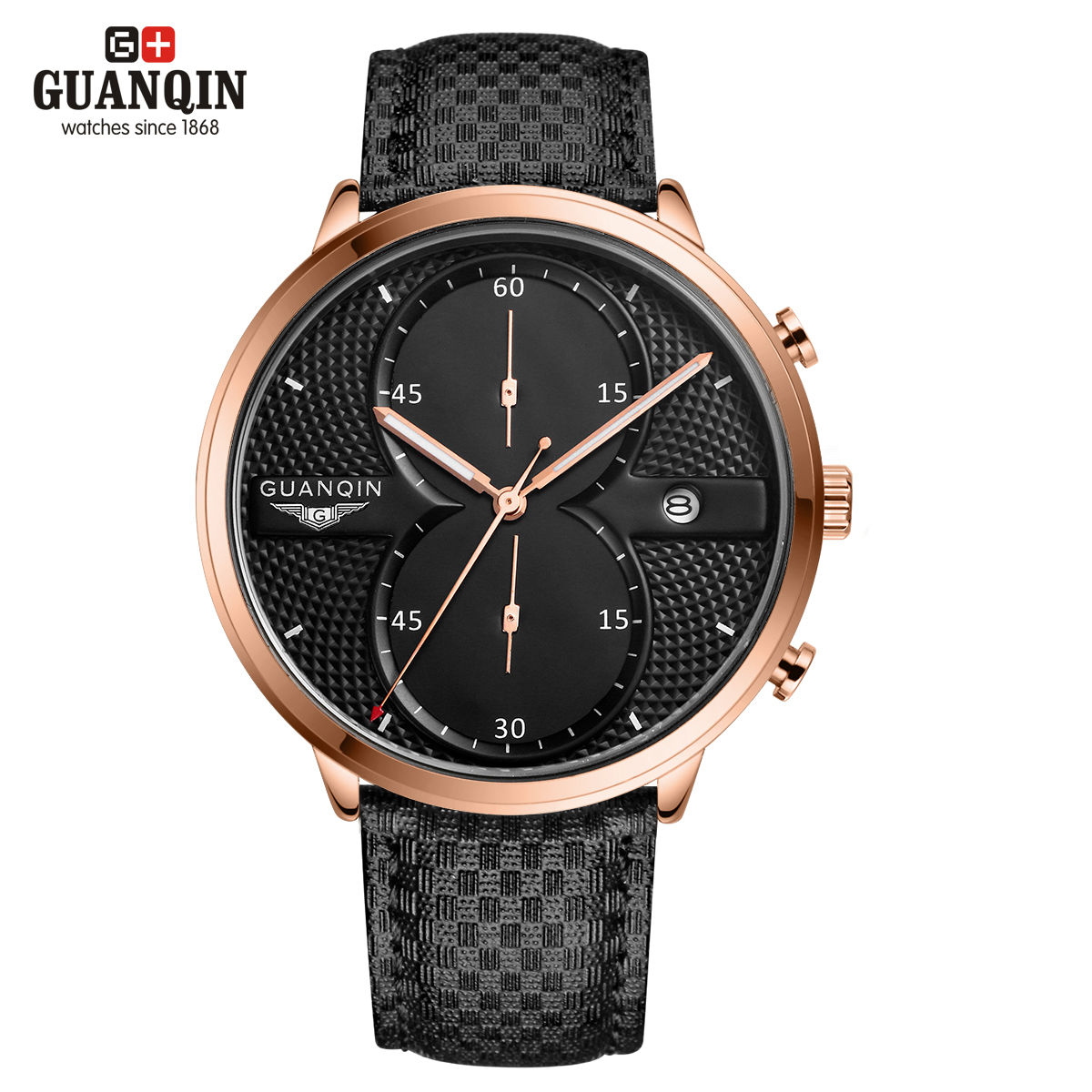 ФОТО GUANQIN Men's Quartz watches men dress relogio masculino Vintage roman watch men crystal vintage Quartz-watch Casual relog