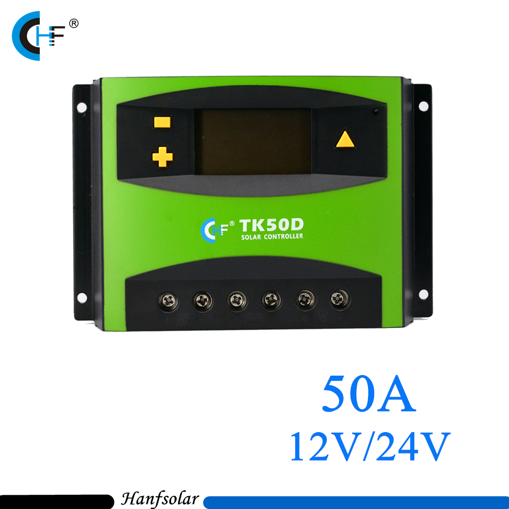 5pcs/lot PWM 50A Solar Charger Controller 12V 24V LCD Display Solar Panel Charge Regulator TK50D 5pcs lot intersil isl95838hrtz isl95838 95838hrtz qfn dual 3 2 pwm controller for imvp 7 vr1 cpus