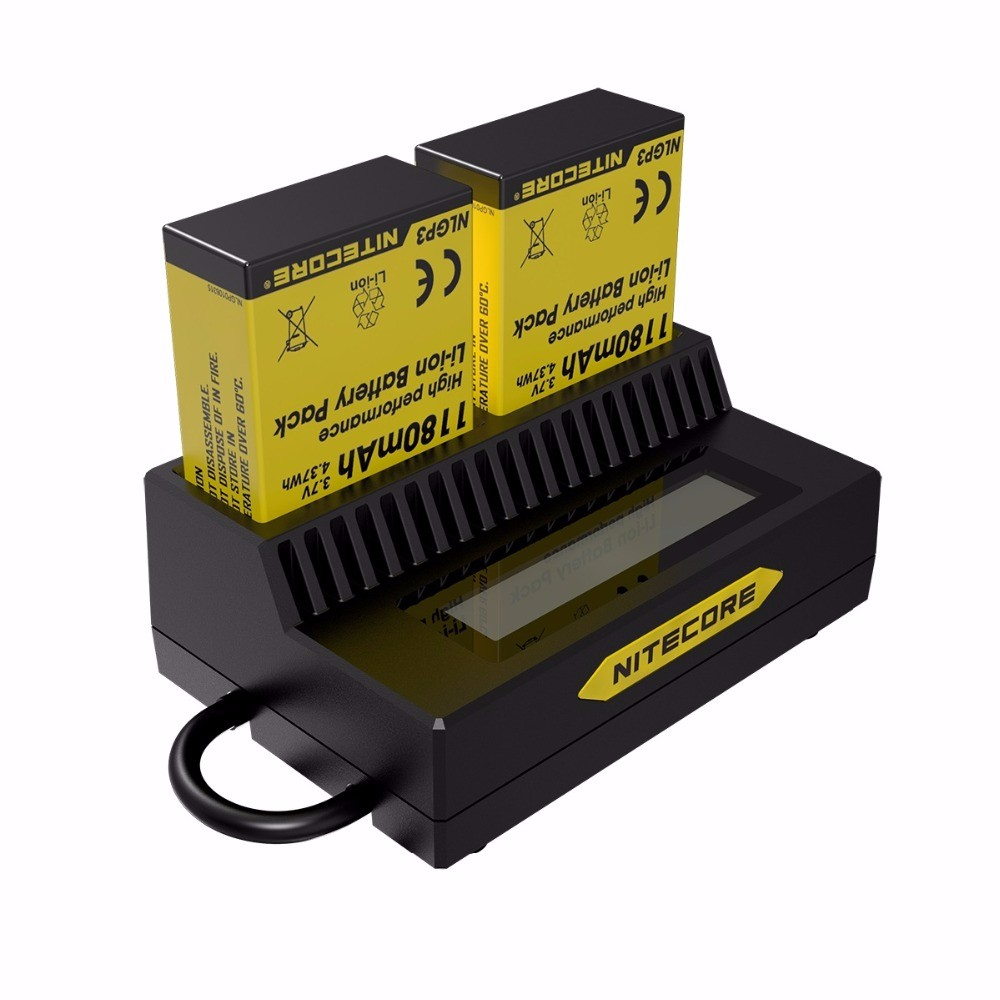 Nitecore-UGP3-Intelligent-11USB-LCD-Display-Battery-Charger-For-GoPro-HERO3-3-AHDBT-302-301-201