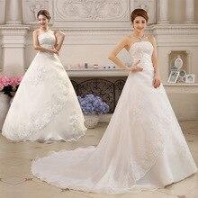 Элегантные белые свадебные платья без бретелек бальное платье на шнуровке вышито бисером с блестками Роскошные вечерние свадебные платья с коротким шлейфом Gelinlik