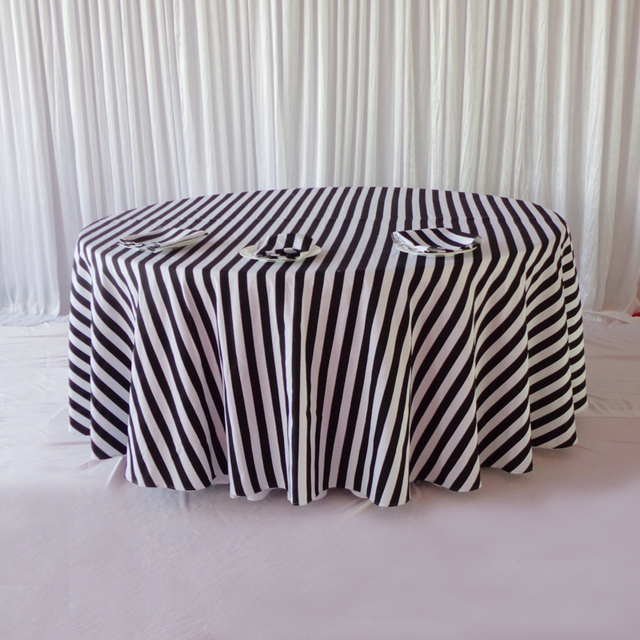 Phenomenal Us 140 0 10 Pcs Free Shipping 120 Printed Black And White Striped Table Cloth Printed Striped Table Cloth For Wedding Party Decoration In Home Interior And Landscaping Synyenasavecom