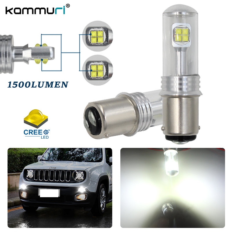 KAMMURI 6000K Xenon White CAN-bus LED Daytime Running Light DRL Bulbs for 2015-up Jeep Renegade for pontiac solstice 2007 2008 2009 daytime running lights excellent xenon white reflector 3157 led bulbs daytime drl light