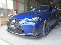 Car Carbon Fiber Front+rear Bumper Lip Spoiler Auto Car Diffuser Fits For Lexus IS200 IS250 IS350 IS300 2014 2018