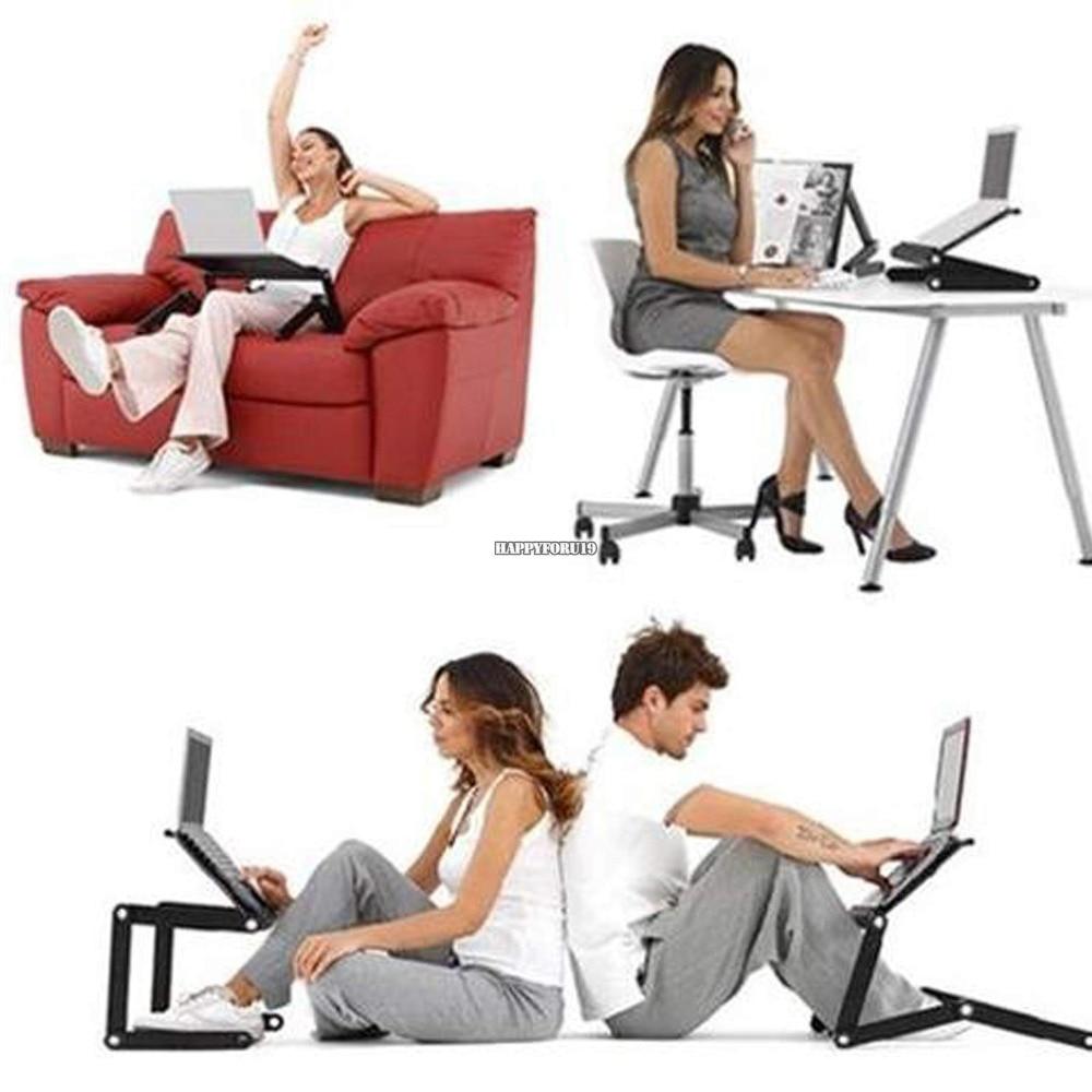 Multi fonctionnel ergonomique ordinateur Portable table stand pour lit Portable canapé table d'ordinateur Portable pliable ordinateur Portable bureau rouge/noir choisir