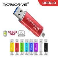 De alta velocidad cle usb 3,0 OTG pen drive 128 GB USB flash drive 64 GB USB externo de memoria 32 GB 16 GB Pendrive flash usb 3,0 d