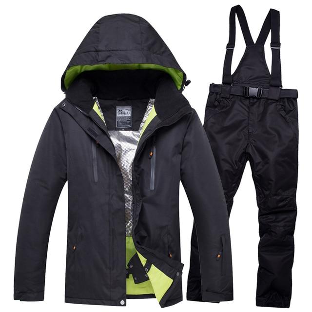 2018new10K для влюбленных мужчин и женщин ветрозащитный водонепроницаемый теплый мужской зимний комбинезон комплекты лыжный костюм для катания на лыжах и сноуборде мужская куртка