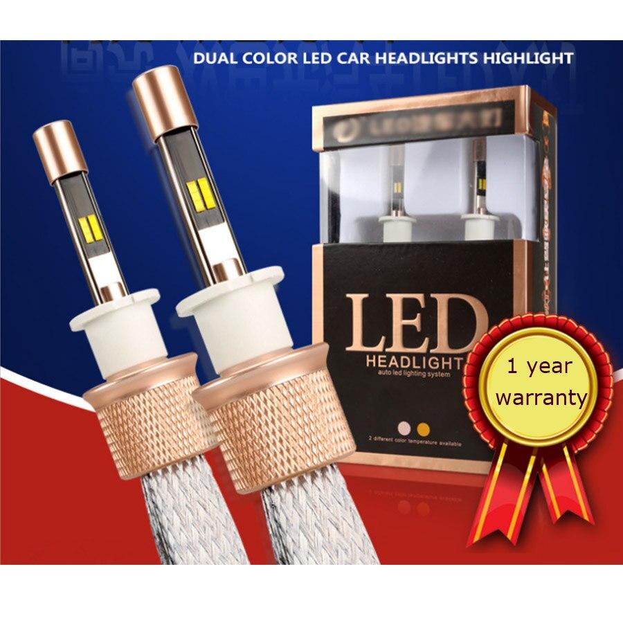 881 880 LED 6000k 3000k Dual Color Auto led light 90w Automobiles Bulbs Car Driving Headlight 9600lm Fog Lights Replace Lamps