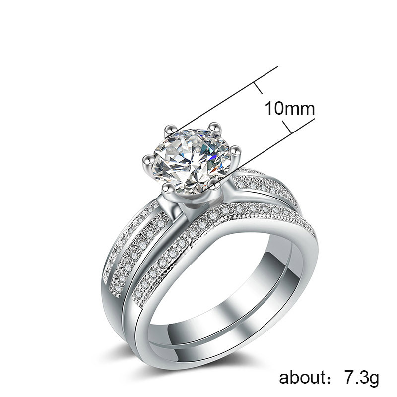 Woman 39 s ring jewelry Couple stainless steel fashion zircon couple ring two piece Rose gold ring inlaid zircon man ring love B777 in Rings from Jewelry amp Accessories