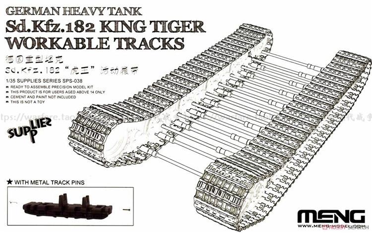 Meng Model SPS-038 1/35 German Sd.Kfz.182 King Tiger Workable Tracks Sps038