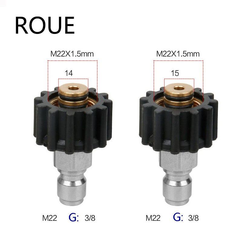 Arandela de alta presión del coche adaptador de conector de latón M22 hembra + 3/8