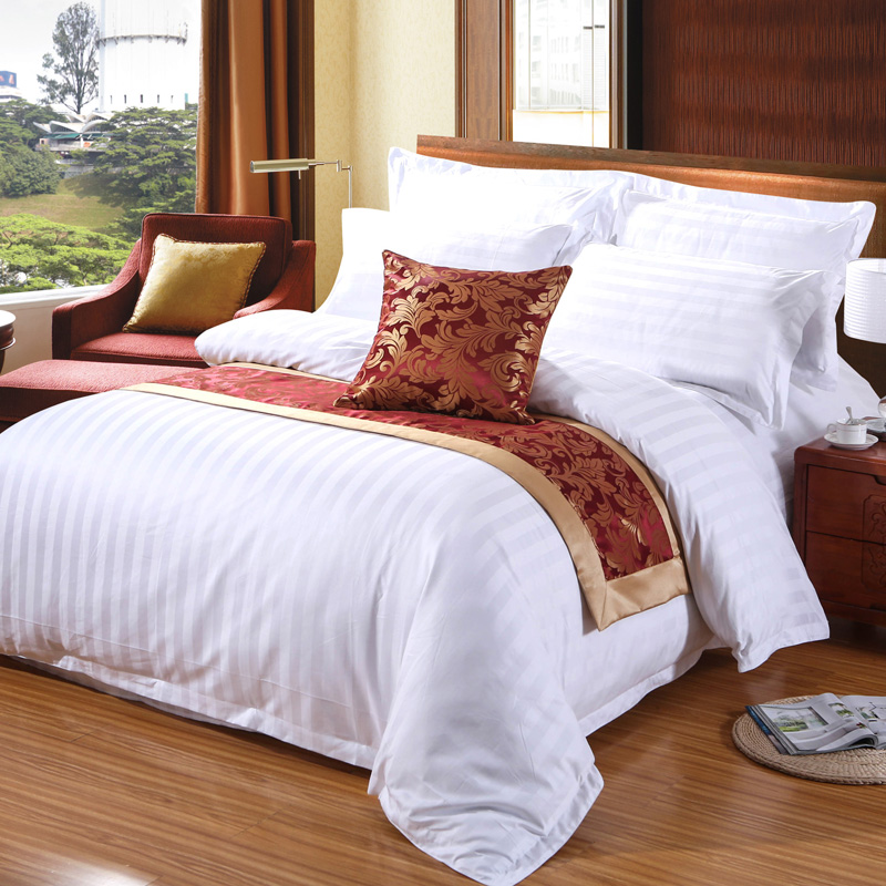 Custom Pure Cotton Satin Hotel Duvet Cover Set King