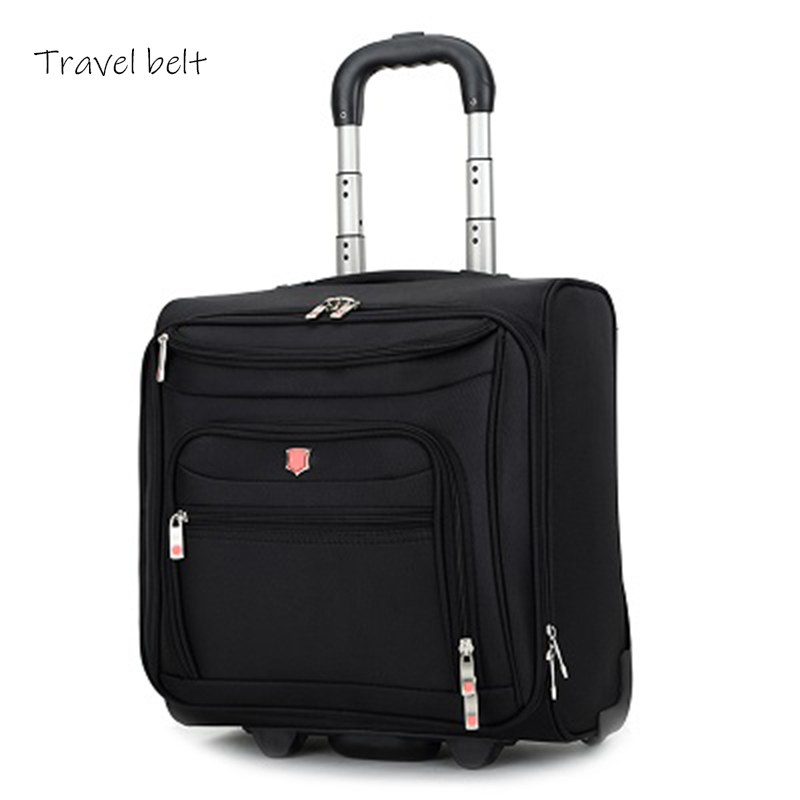 Travel Belt High Quality Oxford Rolling Luggage Spinner 18 Inch Men Business Suitcase Wheels Carry On Travel Bags