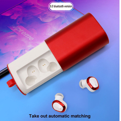 Bluetooth 5.0 Earphones Wireless Twins Earbuds Cordless Stereo Binaural Headsets In-Ear Sport Mini Earphones with Charger Box
