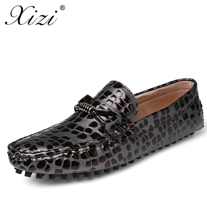 XIZI men  Casual penny loafers shoes Male fashion patent leather oxford moccasins burgundy driving shoes men leather loafers cbjsho brand men shoes 2017 new genuine leather moccasins comfortable men loafers luxury men s flats men casual shoes