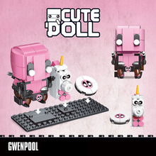 Creator Series Cute Doll Tree Man Gwenpool Owen Rocket Steve Building Block Educational Assembly BrickHeadz Toys for Children
