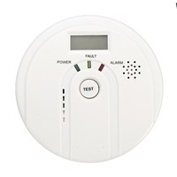 Safurance LCD CO Carbon Monoxide Poisoning Smoke Gas Sensor Warning Alarm Detector Tester Home Security