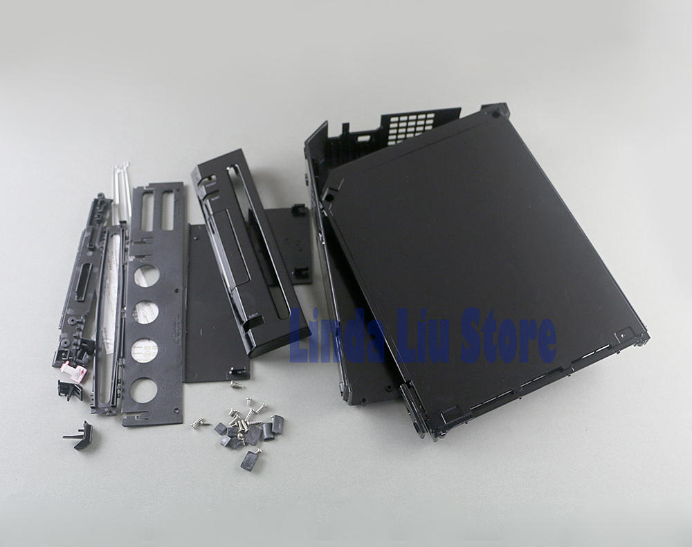 Black White Full Set Housing Shell Case Cover Replacement For Wii Game Console With Retail  Package