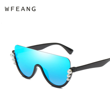 WFEANG 2019 fashion Flat top big Sunglasses Women Newest Brand Designer Superstar Celebrity Sun Glasses UV400 Gradient Lunettes