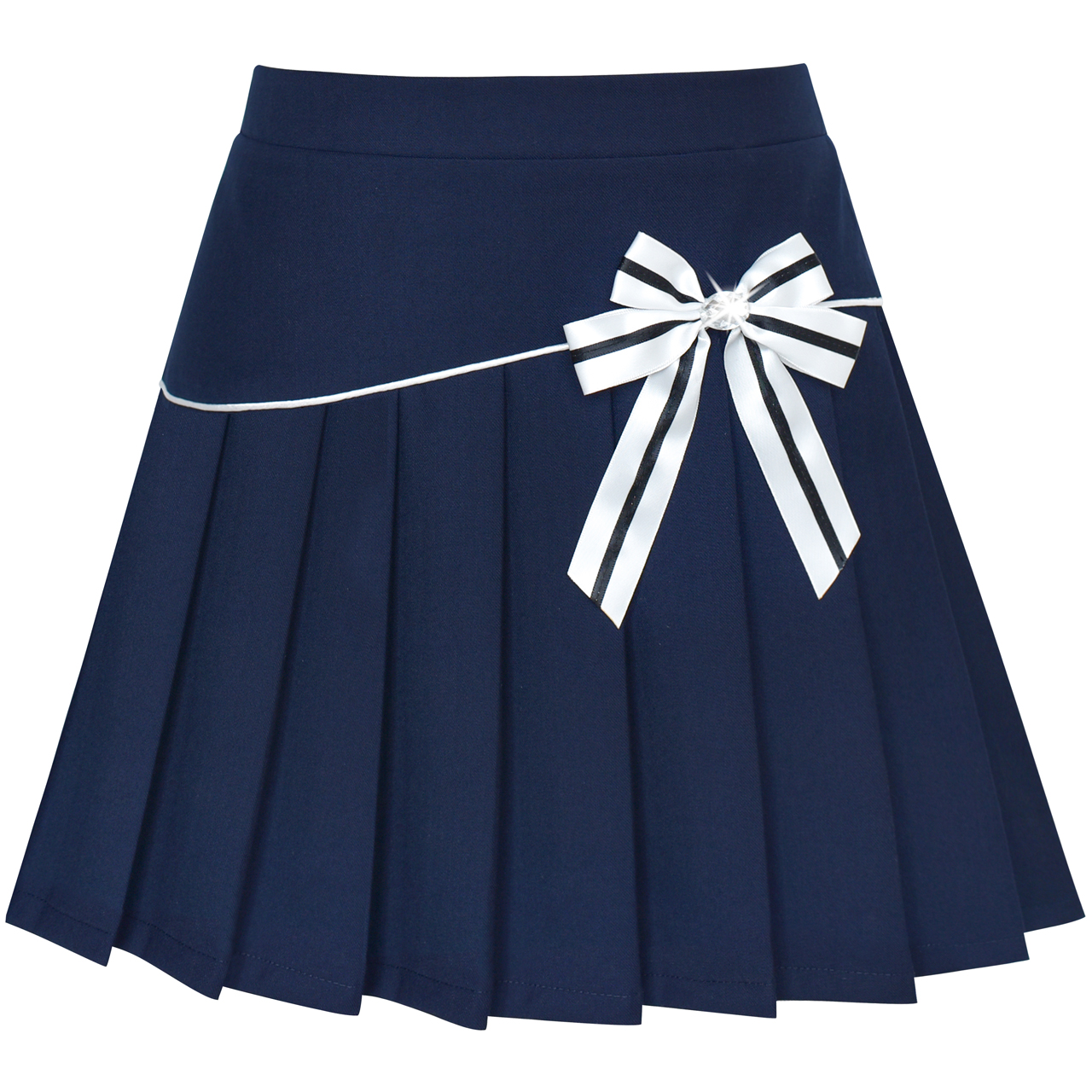 Baby Girls Dress Age2-8 Naval academy Bow-tie Dress Summer Clothes Party Dress