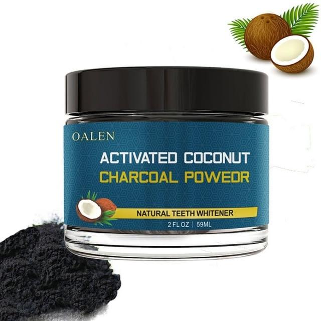Cáscara de coco activado carbón dientes blanqueamiento orgánico Natural carbón de bambú pasta de dientes en polvo blanqueamiento dientes